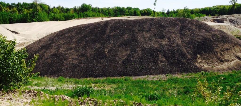 ashpalt pile